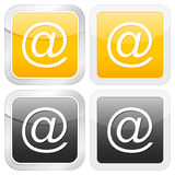 Square icon email Stock Photo