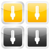 Square icon energy saving bulb Royalty Free Stock Photo