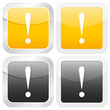Square icon exclamation mark Royalty Free Stock Images