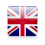 Square icon with flag of the UK Stock Photo