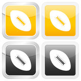 Square icon football Royalty Free Stock Photo