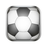 Square icon for football app or games Royalty Free Stock Photo