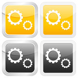 Square icon gear Royalty Free Stock Image