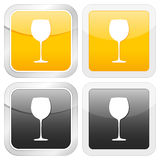 Square icon glass Stock Photos