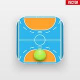 Square icon of handball sport Royalty Free Stock Photos