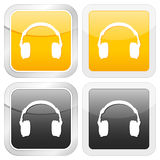 Square icon headphone Royalty Free Stock Photos