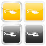 Square icon helicopter Royalty Free Stock Photo