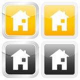 Square icon house Stock Photos