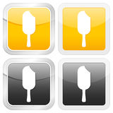 Square icon ice cream Stock Photography