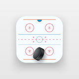 Square icon of ice hockey sport Royalty Free Stock Image