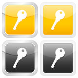 Square icon key Royalty Free Stock Photo
