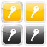 Square icon key Royalty Free Stock Photo