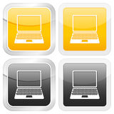 Square icon laptop Royalty Free Stock Image
