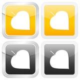 Square icon leaf Stock Photos