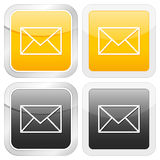 Square icon mail Royalty Free Stock Photos