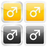 Square icon man symbol Royalty Free Stock Images