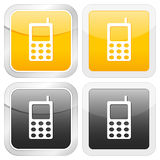 Square icon mobile phone Royalty Free Stock Photos