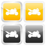 Square icon motorcycle Stock Images