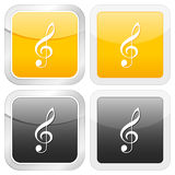Square icon music Royalty Free Stock Photography