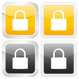 Square icon padlock Stock Photos