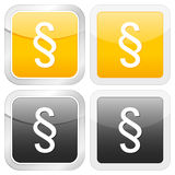 Square icon paragraph Stock Photo