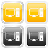 Square icon PC Royalty Free Stock Photos