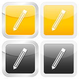 Square icon pencil Royalty Free Stock Photos