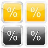 Square icon percentage Stock Photo