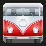 Square Icon Popular bus classic Camper Van Stock Photo