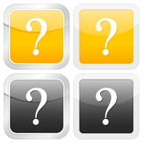 Square icon question Stock Photo