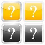 Square icon question Stock Photo