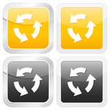 Square icon recycle Stock Photo