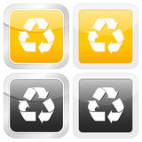 Square icon recycle symbol Stock Images