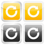 Square icon reload Stock Photo