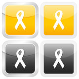 Square icon ribbon Royalty Free Stock Images