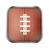 Square icon for rugby app or games Royalty Free Stock Images