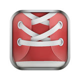 Square icon for run app or games Stock Image