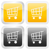 Square icon shopping cart Royalty Free Stock Image
