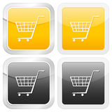 Square icon shopping cart symbol Stock Image