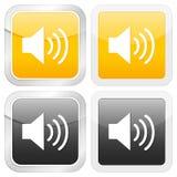 Square icon sound royalty free illustration