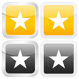 Square icon star Stock Images