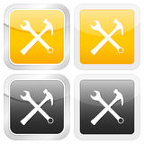 Square icon tool Royalty Free Stock Image