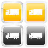 Square icon truck. Vector illustration Royalty Free Stock Images