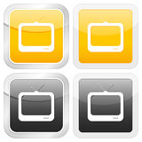 Square icon tv Stock Photos