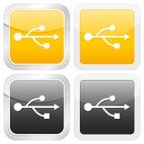 Square icon usb Royalty Free Stock Image