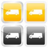 Square icon van Stock Image
