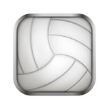 Square icon for volleyball app or games Royalty Free Stock Photography