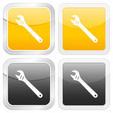 Square icon wrench Stock Photos