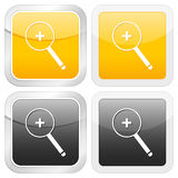 Square icon zoom in Stock Images