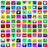 Square icons 08.12.12 Stock Image